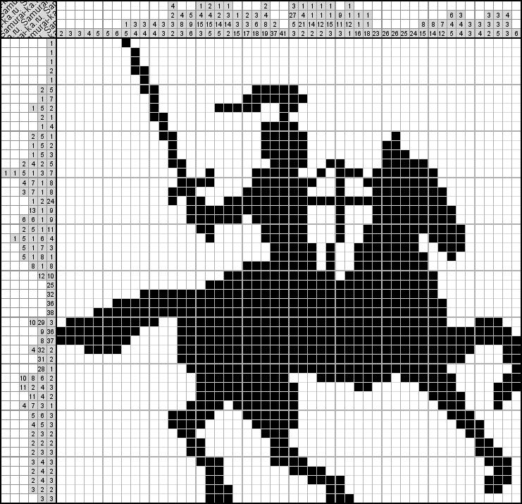 Японский кроссворд - Рыцарь
