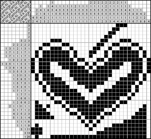 Японский кроссворд - Сердце