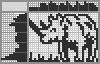 Японский кроссворд Носорог