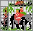 Японский кроссворд Катание на слоне