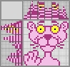 Японский кроссворд Розовая пантера