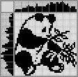 Японский кроссворд Панда и бамбук
