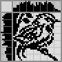Японский кроссворд Птичка на ветке