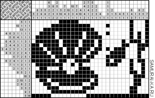 Японский кроссворд - Жемчужина решай онлайн без регистранции и бесплатно.