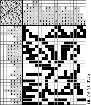 Японский кроссворд - Крылатый Сфинкс решай онлайн без регистранции и бесплатно.
