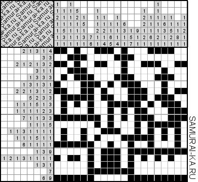 Японский кроссворд - Храм решай онлайн без регистранции и бесплатно.