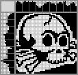 Японский кроссворд Череп с костями