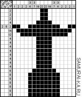 Японский кроссворд - Статуя Христа Искупителя решай онлайн без регистранции и бесплатно.