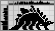 Японский кроссворд Динозавр