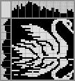 Японский кроссворд Лебедь и отражение