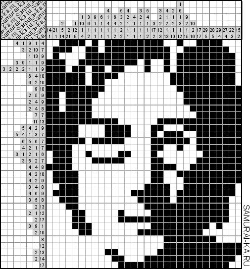 Японский кроссворд - Джон Леннон решай онлайн без регистранции и бесплатно.