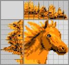Японский кроссворд Рыжая лошадь
