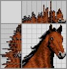 Японский кроссворд Гнедая лошадь
