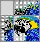Японский кроссворд Синий ара