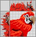 Японский кроссворд Красный ара