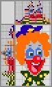 Японский кроссворд Клоун