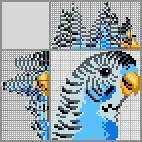 Японский кроссворд Синий волнистый попугай