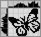 Японский кроссворд Бабочка