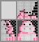 Японский кроссворд Розовый бегемотик