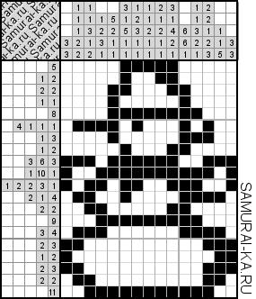 Японский кроссворд - Снеговичок решай онлайн без регистранции и бесплатно.