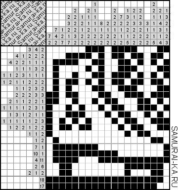 Японский кроссворд - Фигурный конек решай онлайн без регистранции и бесплатно.