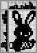 Японский кроссворд Пасхальный кролик с морковкой