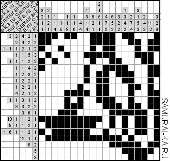 Японский кроссворд - Голодный птенец решай онлайн без регистранции и бесплатно.
