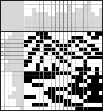 Японский кроссворд - Горный пейзаж решай онлайн без регистранции и бесплатно.