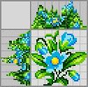 Японский кроссворд Голубой цветочек