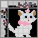 Японский кроссворд Белая кошечка