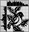 Японский кроссворд Птичка на еловой ветке