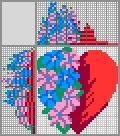 Японский кроссворд Цветочное сердце