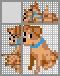 Японский кроссворд Маленький щенок