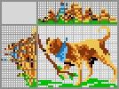 Японский кроссворд Собака с палкой