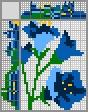 Японский кроссворд Синий цветочек