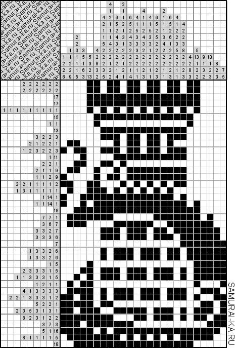 Японский кроссворд - Башня и дракон решай онлайн без регистранции и бесплатно.