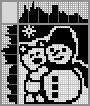 Японский кроссворд Медвежонок и снеговик
