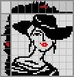 Японский кроссворд Девушка в элегантной шляпе