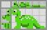 Японский кроссворд Динозаврик
