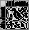 Японский кроссворд Птица на ветке
