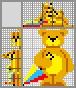 Японский кроссворд Мишка с зонтом