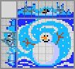 Японский кроссворд Веселый снеговик