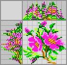 Японский кроссворд Шиповник цветок