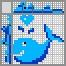 Японский кроссворд Веселый кит