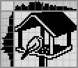 Японский кроссворд Кормушка с птичкой