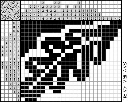 Японский кроссворд - Дубовый листок решай онлайн без регистранции и бесплатно.