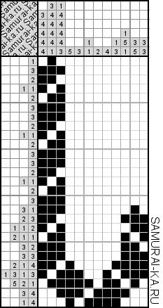 Японский кроссворд - Карамельная трость решай онлайн без регистранции и бесплатно.