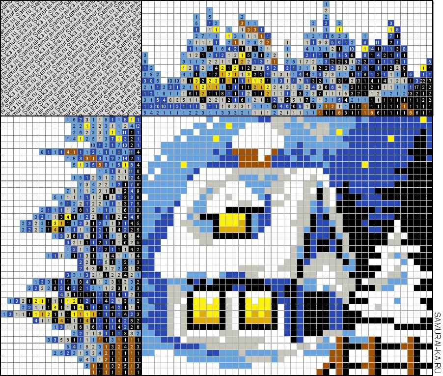 Японский кроссворд - Пейзаж зима решай онлайн без регистранции и бесплатно.