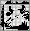 Японский кроссворд Портрет коровы