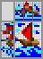 Японский кроссворд Лодка с алыми парусами